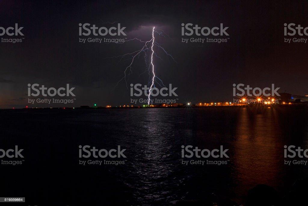 Der Blitz stock photo