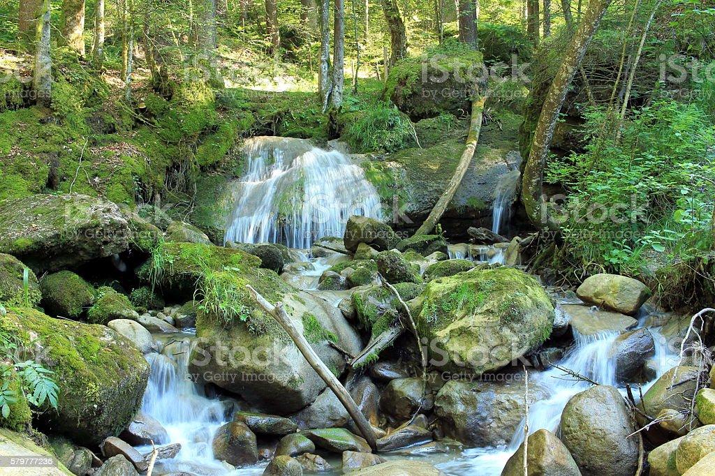 der Wasserfall stock photo