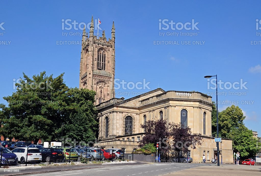 Derby Cathedral. stock photo