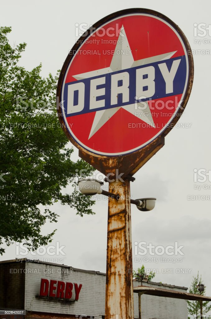 Derby Service Station on Route 66 stock photo