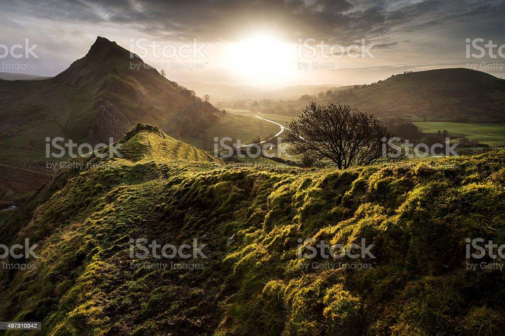 Derbyshire morning stock photo