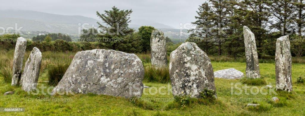 Dereenataggart Stone Circle stock photo