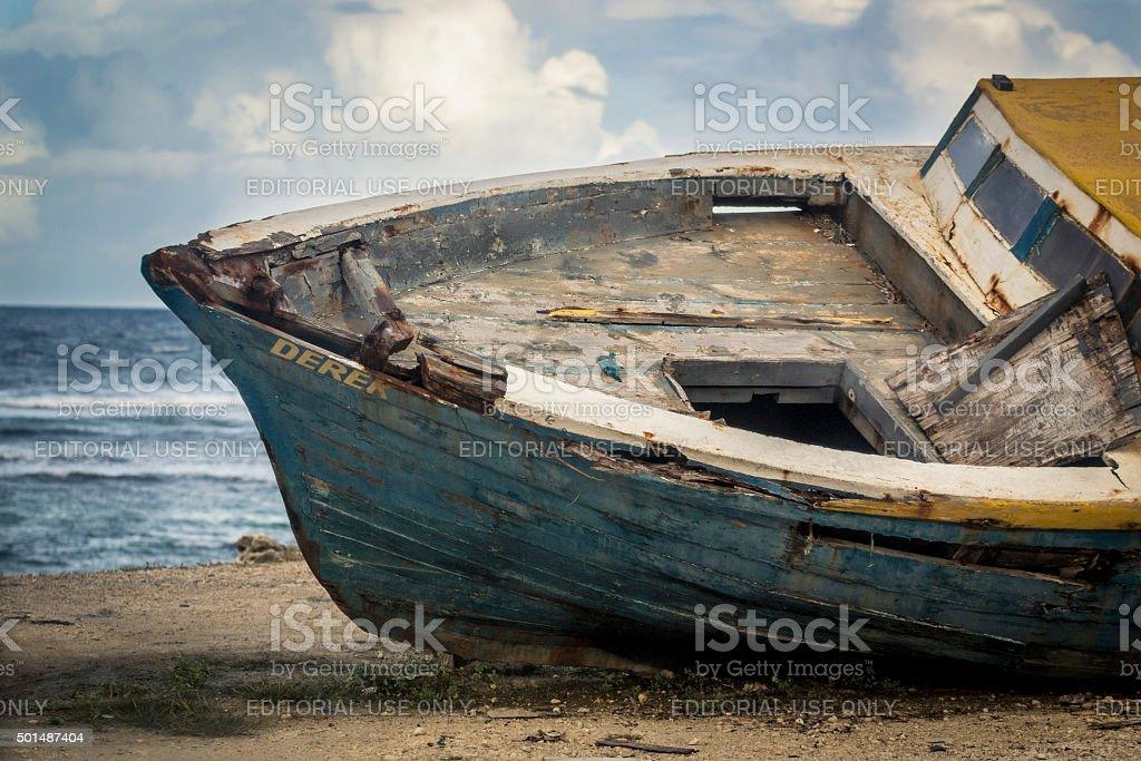 Derek - Abandoned Fishing Boat royalty-free stock photo