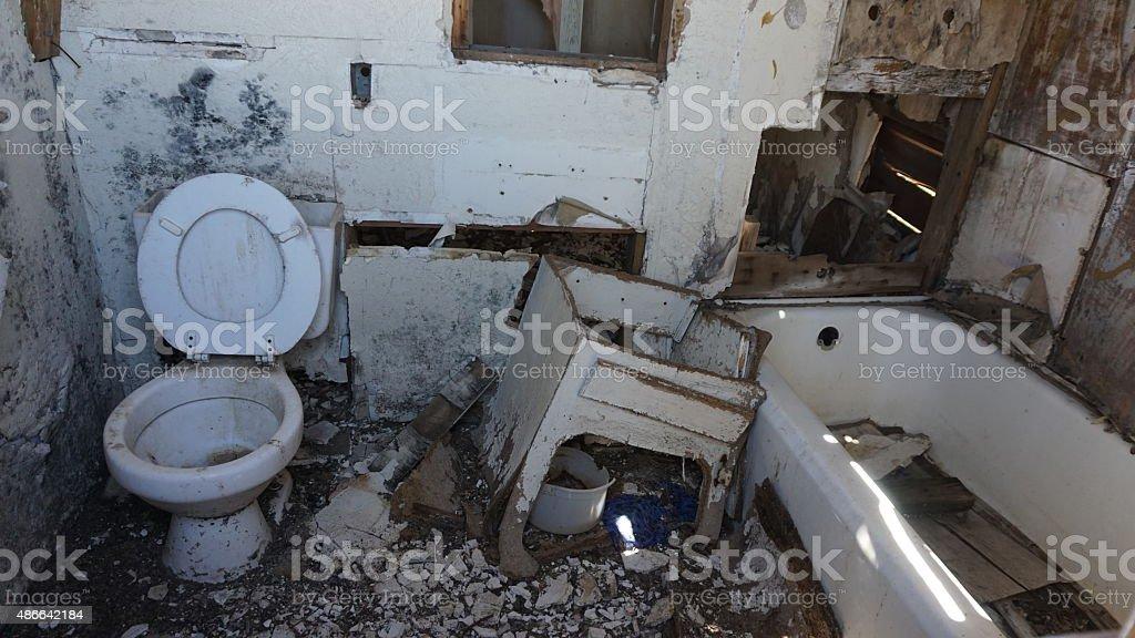 Derelict Bathroom stock photo