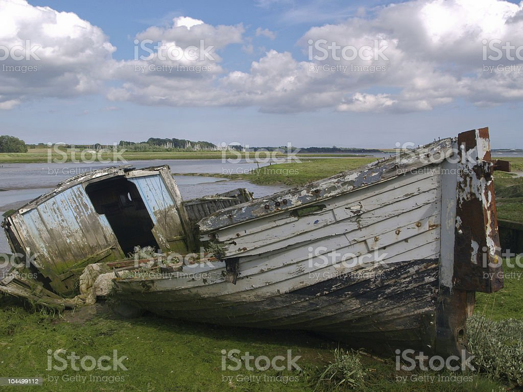 Derelict Boat royalty-free stock photo