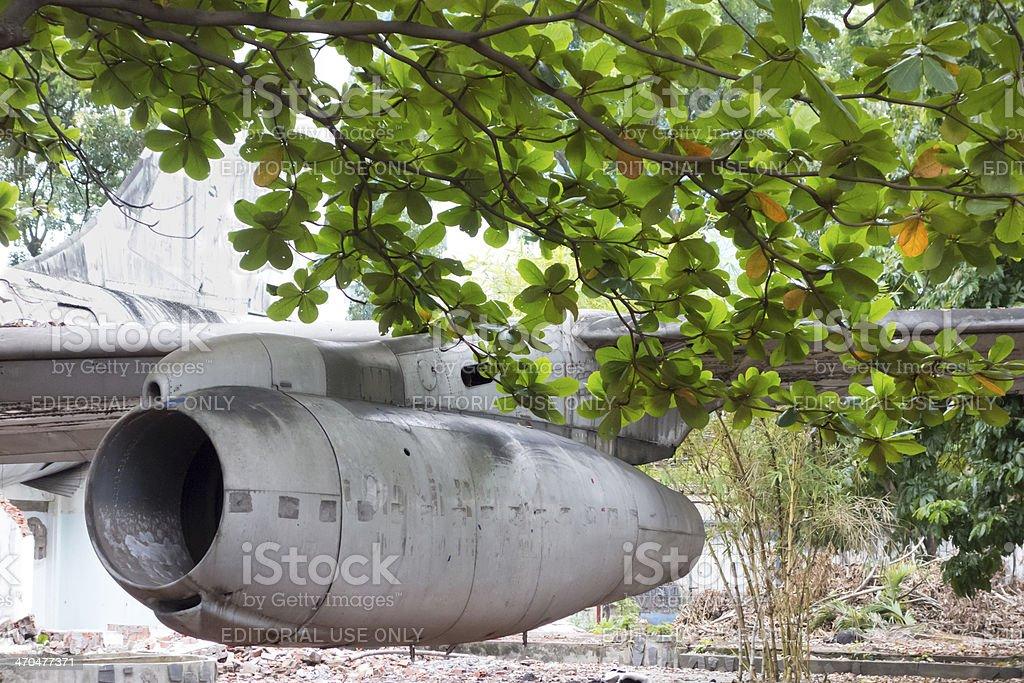 Derelict Boeing 707 in Saigon Vietnam stock photo