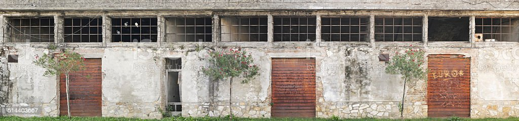 Derelict building - Abandoned warehouse stock photo