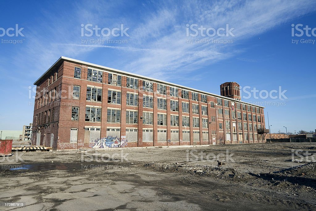 Derelict Building in Chicago stock photo