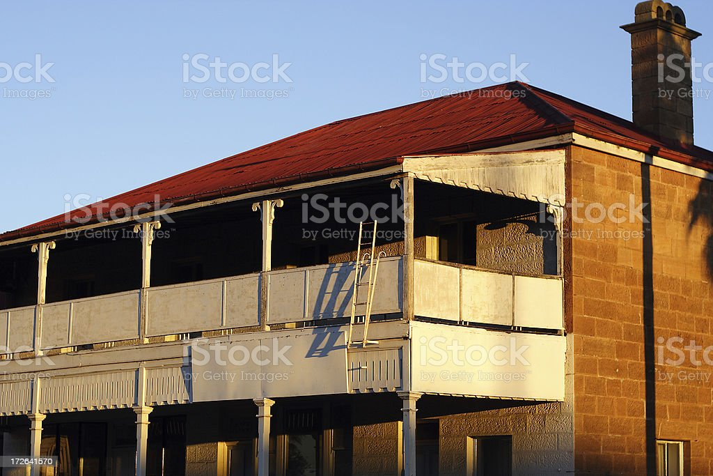 derelict building: sunset royalty-free stock photo