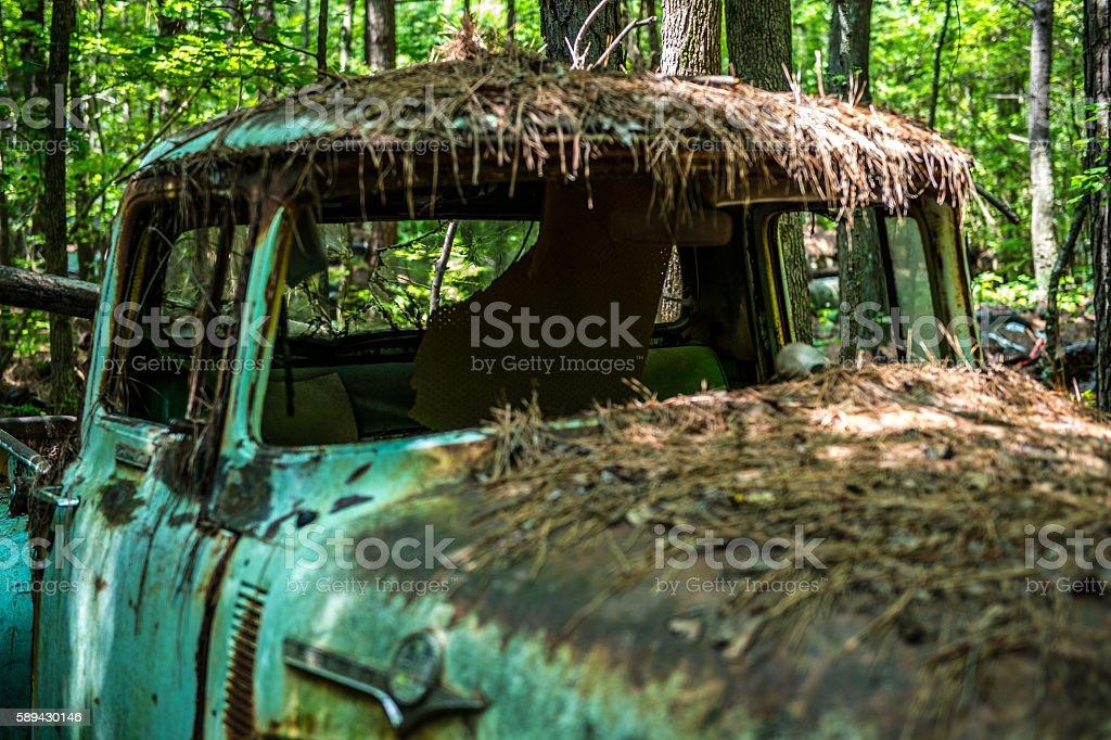 Derelict Classic American Cars stock photo