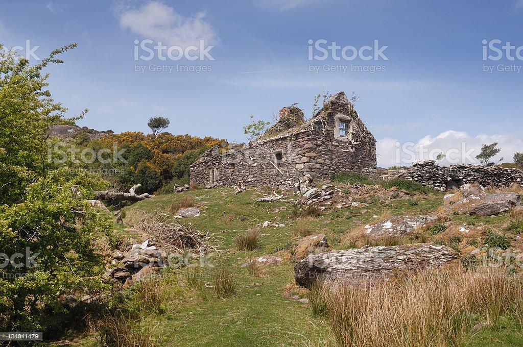 Derelict Cottage stock photo