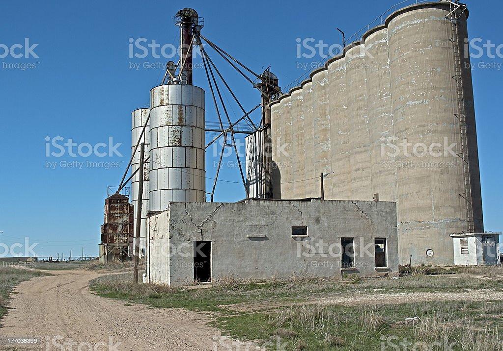 Derelict 穀物エレベーター ロイヤリティフリーストックフォト