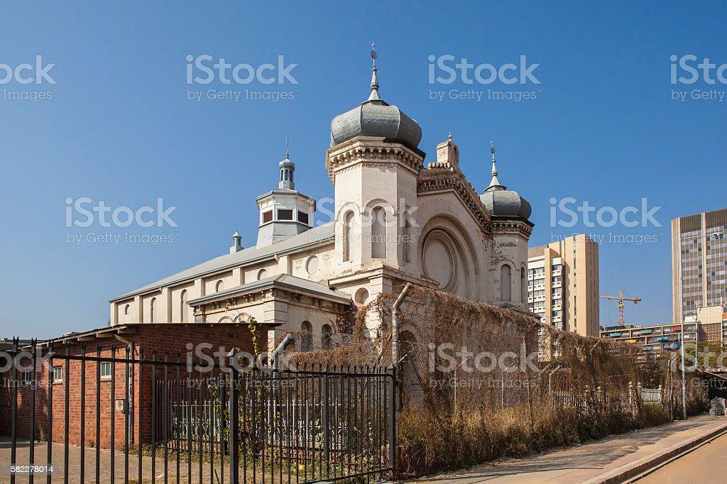 Derelict historic Jewish synagogue in central Pretoria, Sout Africa stock photo