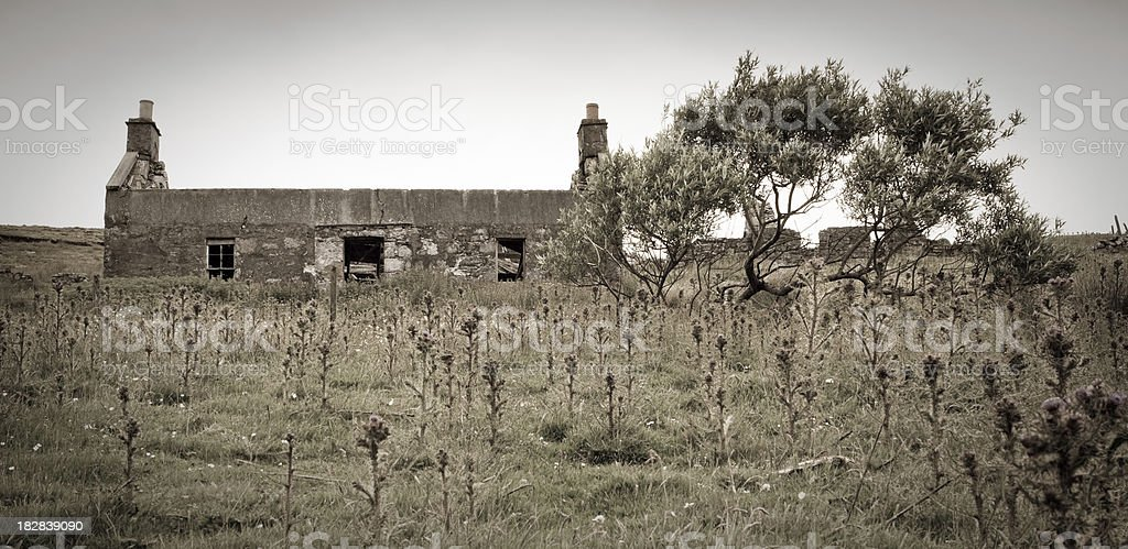 Derelict Home royalty-free stock photo