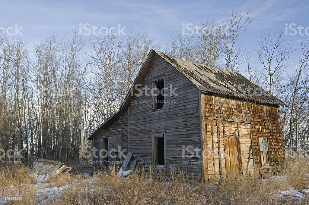 derelict house in aspens royalty-free stock photo