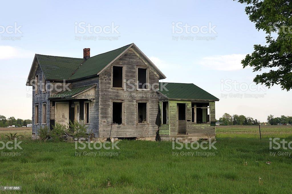 Derelict House In Ohio stock photo