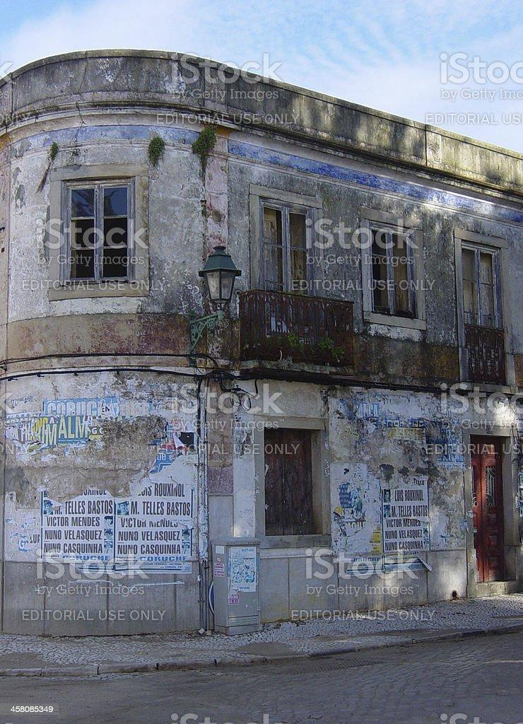 Derelict House near Lisbon Portugal stock photo