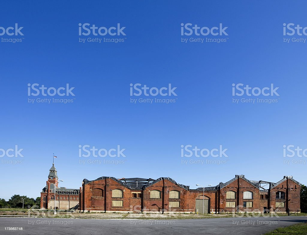 Derelict Landmark Pullman Factory, Chicago stock photo