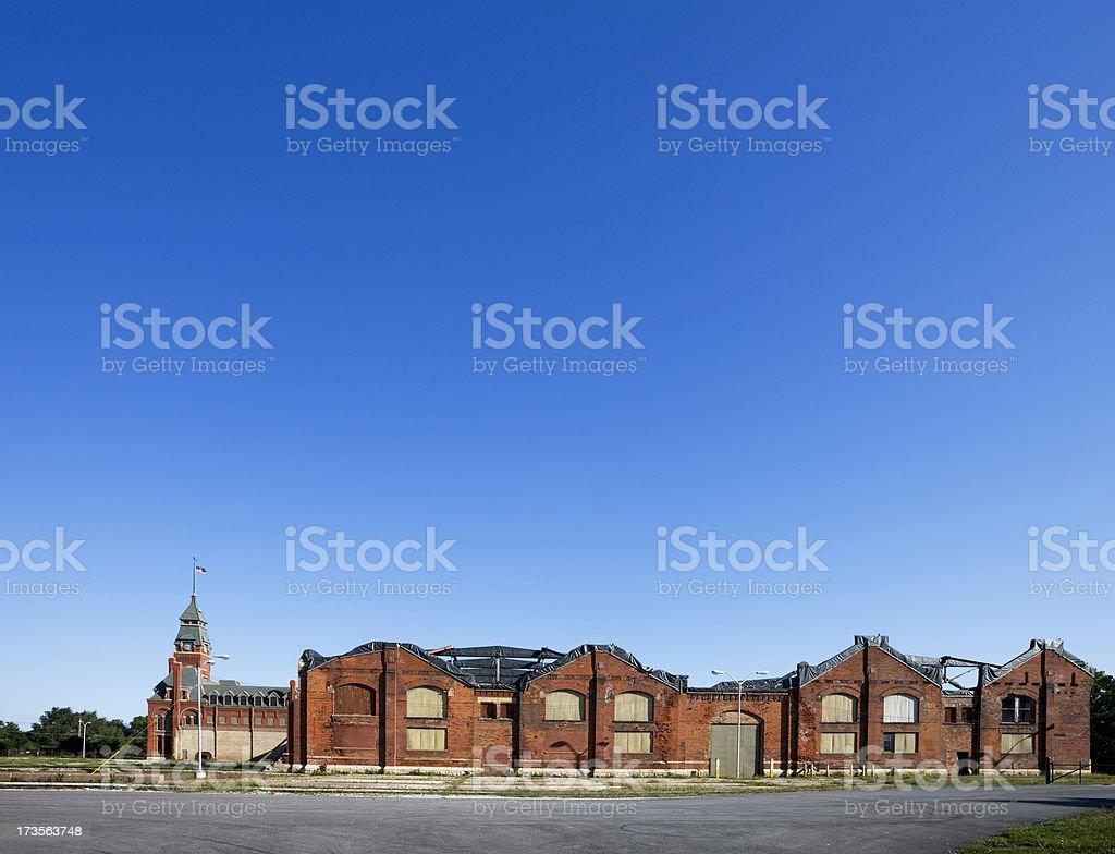 Derelict Landmark Pullman Factory, Chicago stock photo