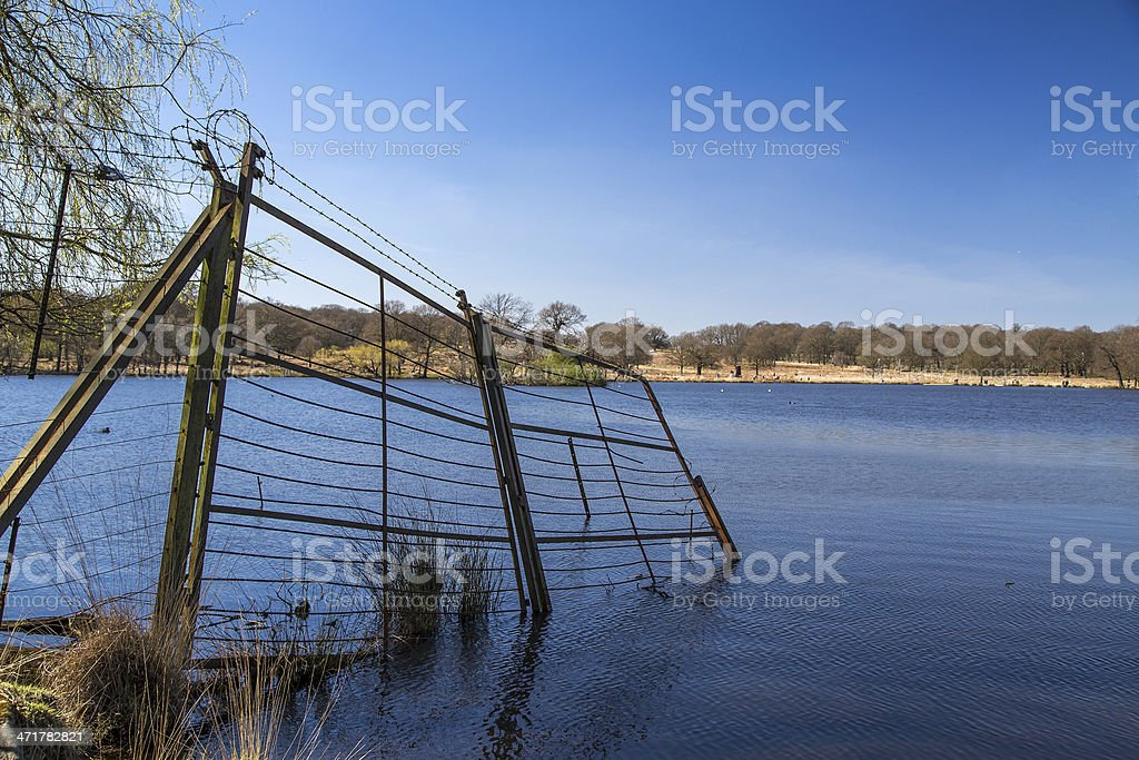 Derelict Metal Fence royalty-free stock photo