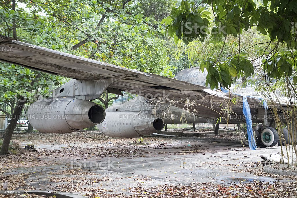 Derelict old Boeing 707 Wings and Jet engines stock photo