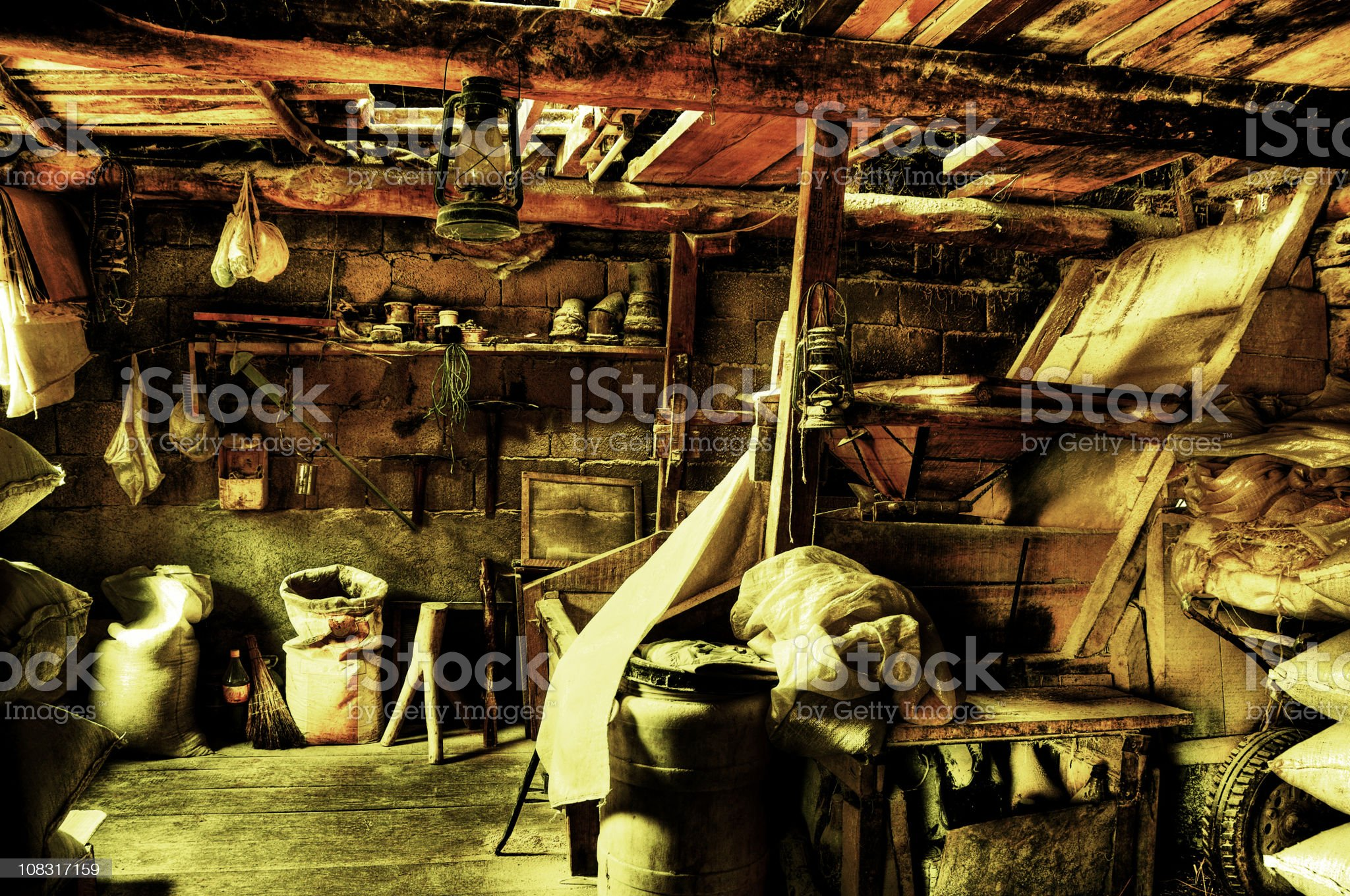 Derelict, Old, Dirty and Ruined Watermill royalty-free stock photo