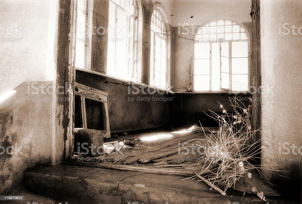 derelict room stock photo