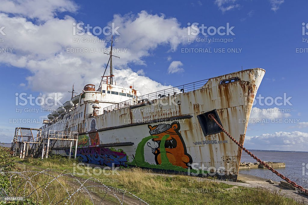 Derelict Ship North Wales royalty-free stock photo