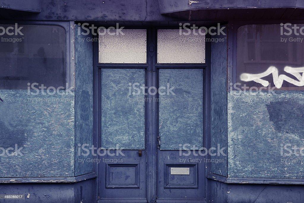 Derelict store stock photo