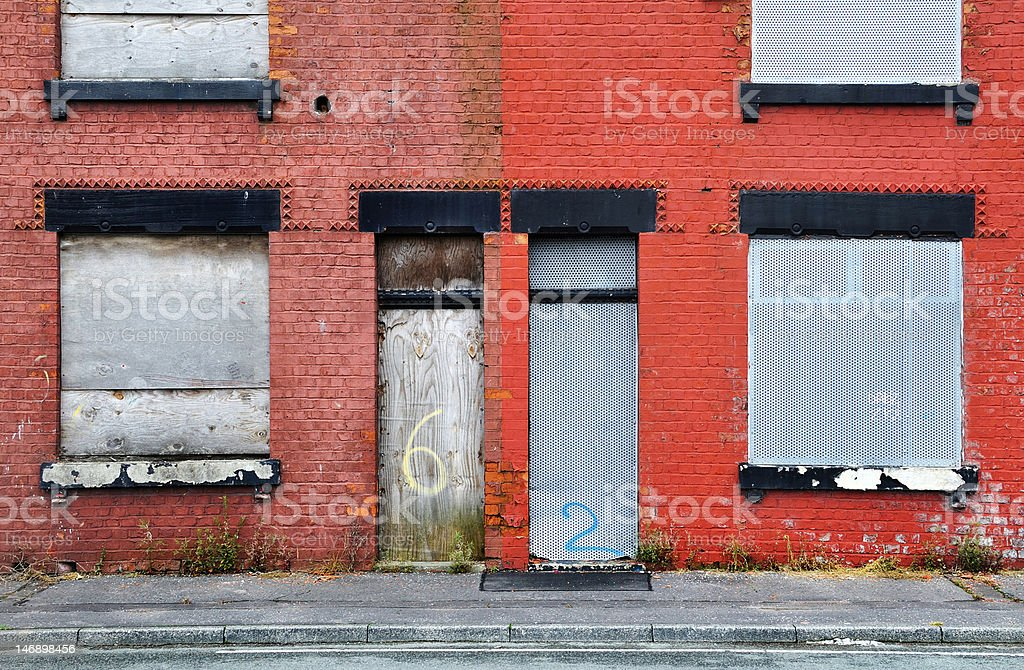 Derelict Terraced House stock photo