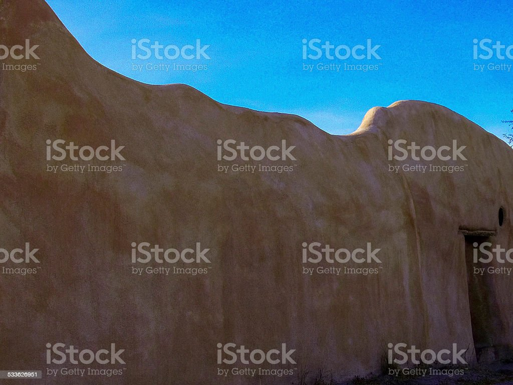 dereligt adobe building window stock photo