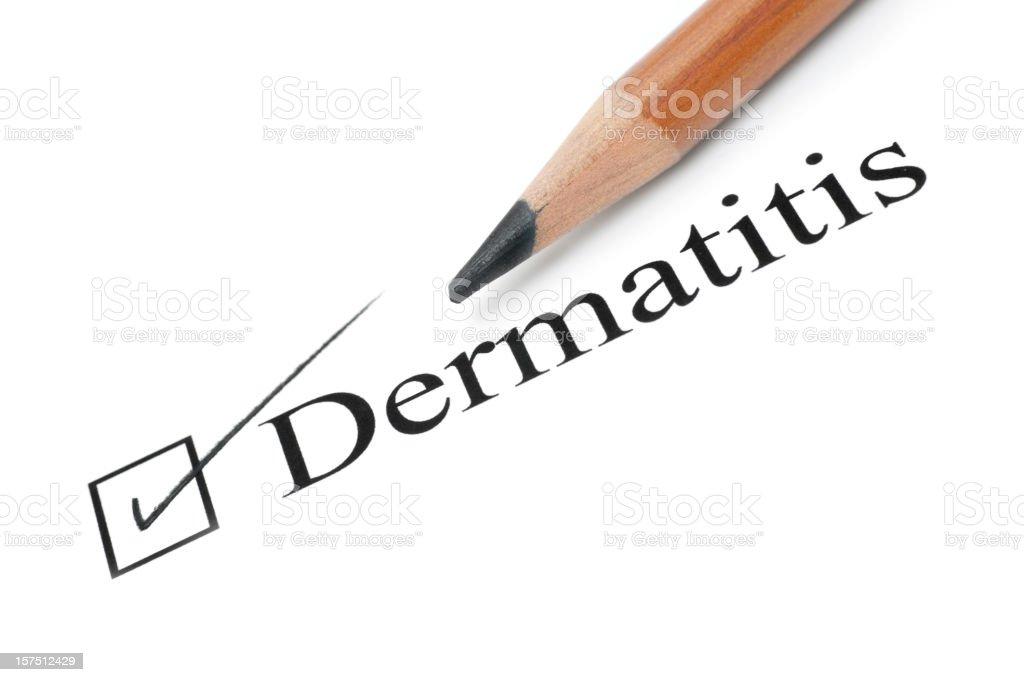 dermatitis health care check list royalty-free stock photo