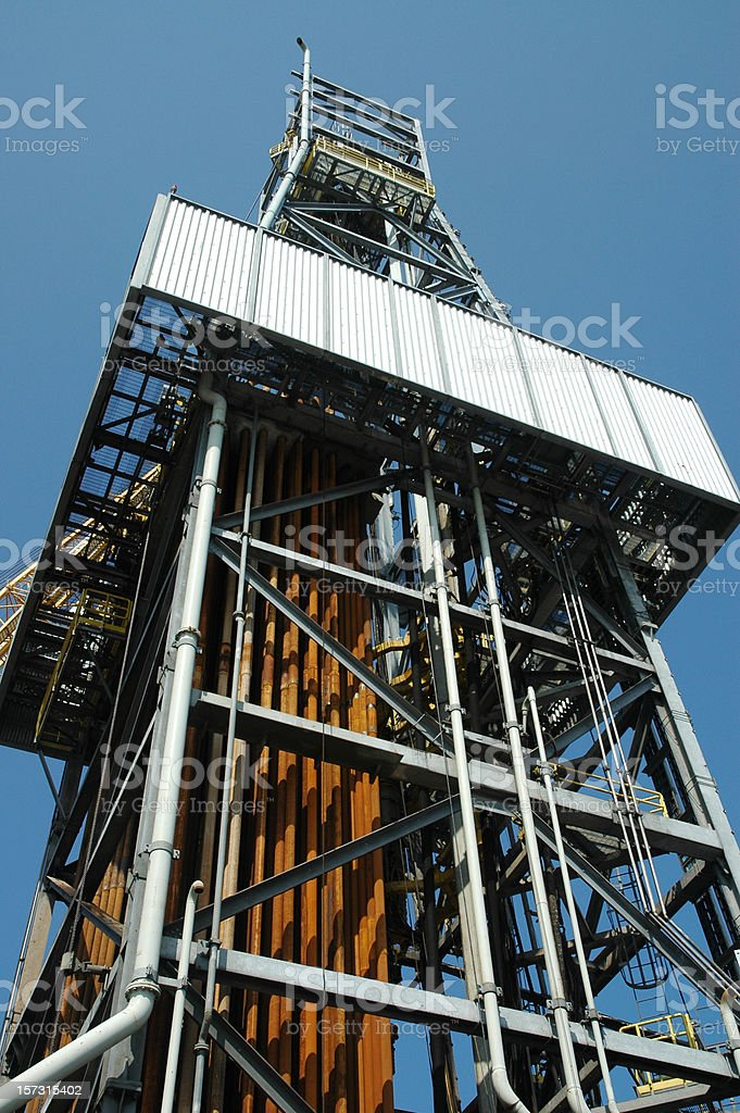 Derrick - Offshore drilling rig stock photo