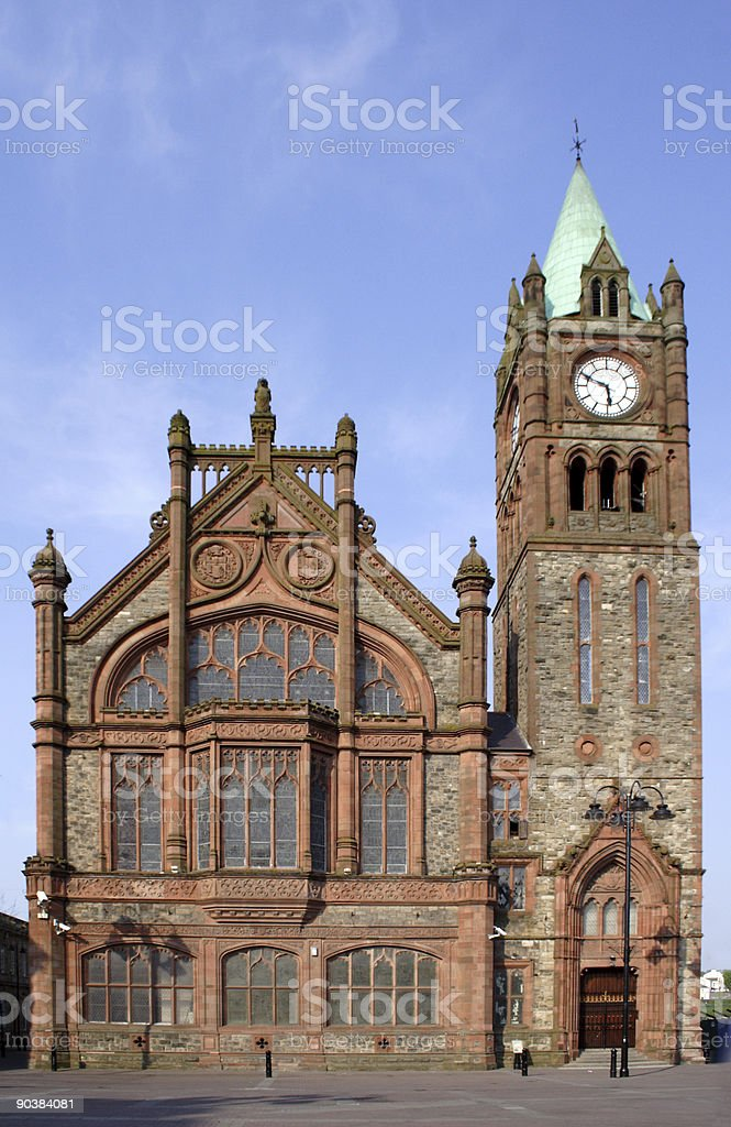 L'Derry Guildhall royalty-free stock photo