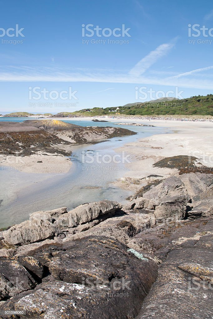 Derrymore Bay Beach; Waterville stock photo