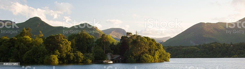 Derwent Isle in Derwent Water stock photo