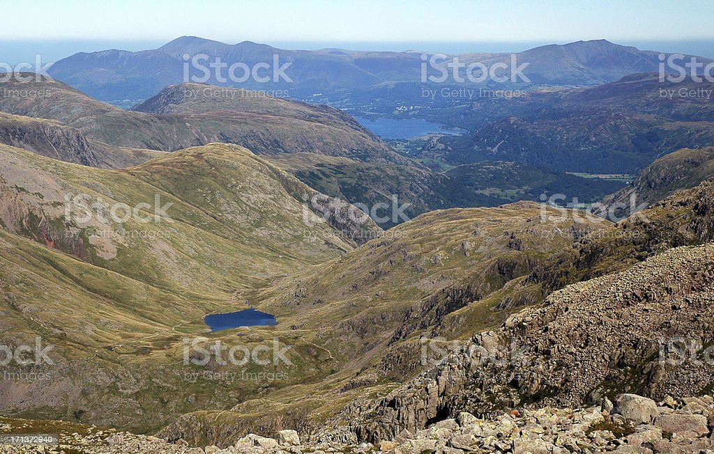 Derwent Water and Borrowdale stock photo
