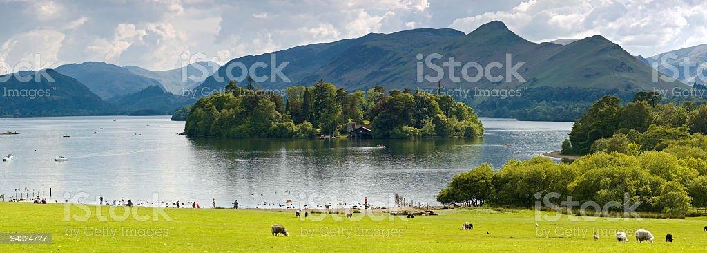 Derwent Water, Cat Bells, Lake District, UK stock photo