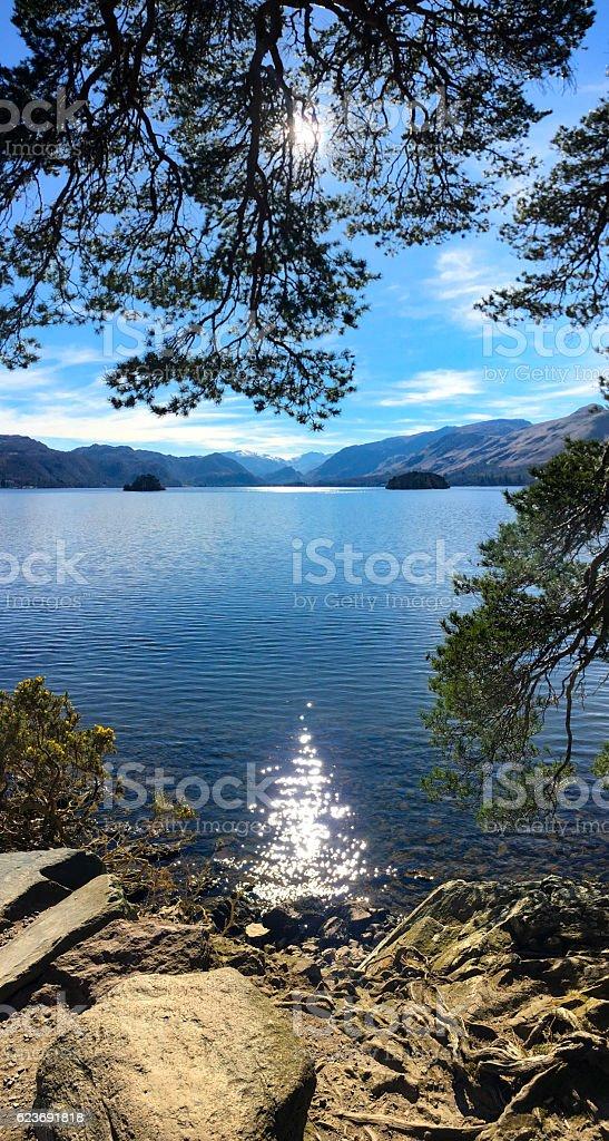 Derwent Water, Cumbria. stock photo