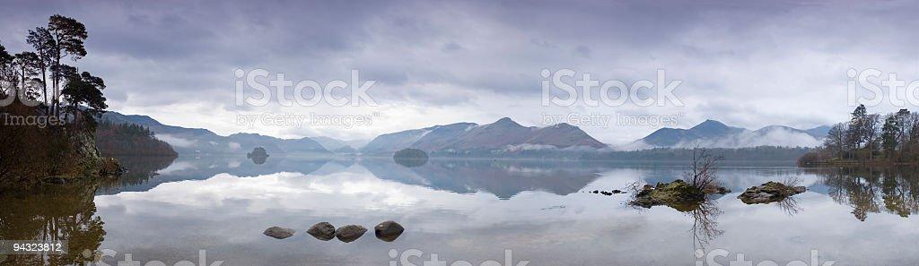 Derwent Water, dawn stock photo