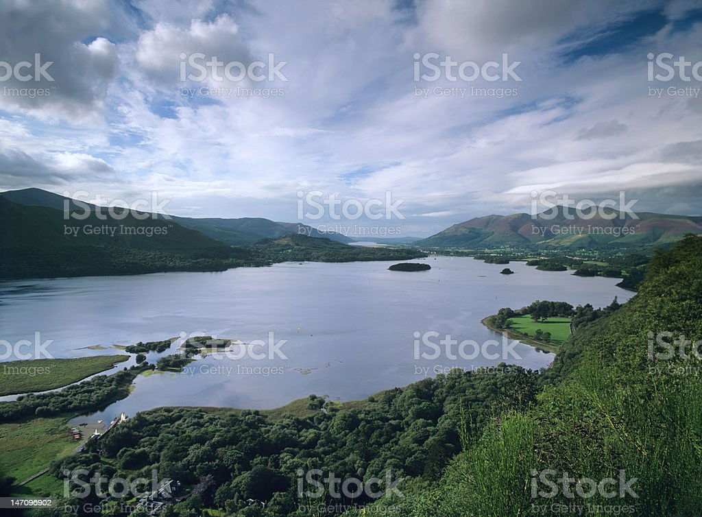 Derwent Water, English Lake District, from surprise view royalty-free stock photo