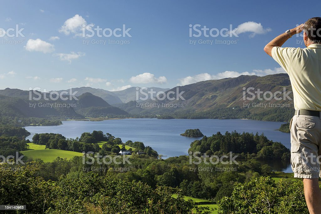 Derwent Water from Castlehead viewpoint royalty-free stock photo