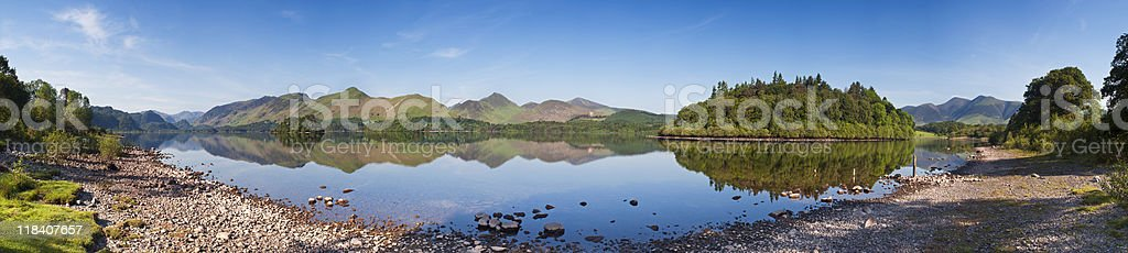 Derwent water in the English Lake District. stock photo