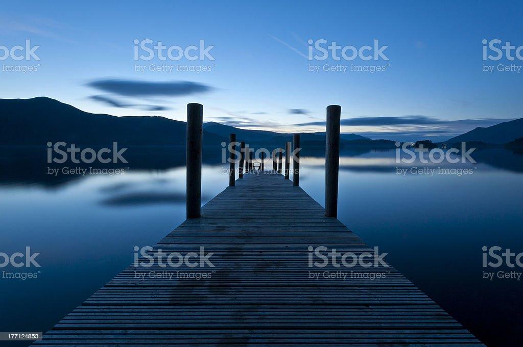 Derwent Water Sunset stock photo