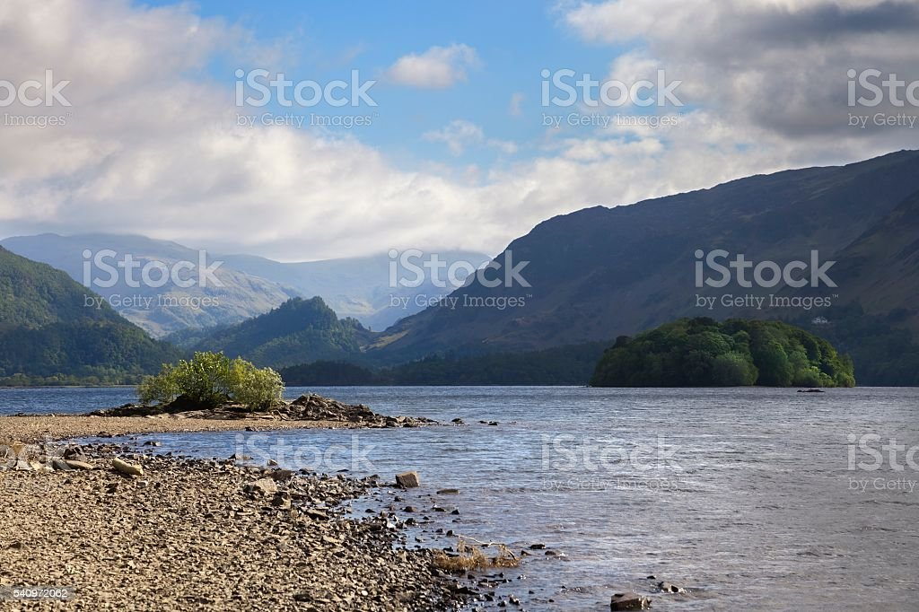Derwent Water, The Lake District, Cumbria, England stock photo