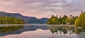 Derwentwater Autumn sunrise, Lake District, UK.