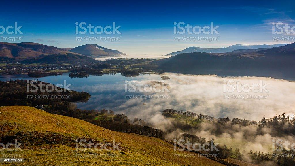 Derwentwater Cloud Inversion stock photo