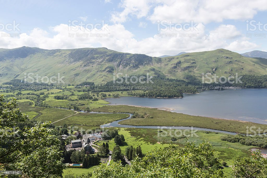 Derwentwater, English Lake District, Cumbria, northwest England, UK stock photo