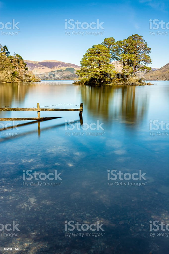 Derwentwater Lake In The Lake District. stock photo