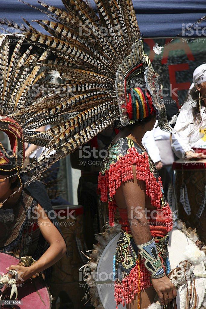 des indiens dans la ville stock photo